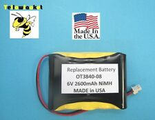 6v NiMH 2600mAh Rechargeable Battery For OTC & Matco Scope Replaces OT3840-08