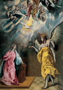 El Greco The Annunciation Poster Reproduction Paintings Giclee Canvas Print