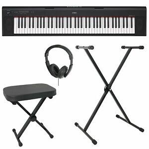 Yamaha NP32 Electronic Keyboard Bundle - Black