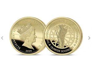 The 2020 Unknown Warrior 100th Anniversary  Gold Quarter Sovereign Ltd Edt 999