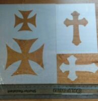 Iron Cross German Stencil Airbrush Wall Art Craft Painting Home DIY Reusable