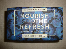New Asquith & Somerset Made in Portugal 10.58oz/300g Bath Bar Soap Blueberry
