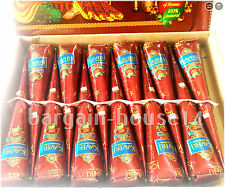 Darkest Maroon ORGANIC HENNA  Tattoo  CONES BOX OF (12) -   ST CLASS FREE POST !