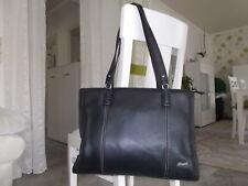 ♥ Fossil♥ Echtleder Shopper Business Tasche Schultertasche ♥ Schwarz ♥ TOP ♥