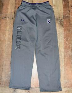 Men's Northwestern Wildcats Under Armour Loose Cold Gear Sweat Pants Medium B47