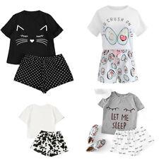UK Ladies Womens Summer Pyjamas Set Sleep Short Loungewear Nightwear PJs Shorts
