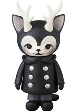 Morris The Cat With Antlers Kaori Hinata Black Coat Sofubi Figure Japan
