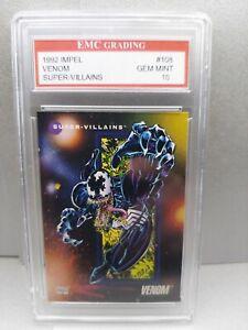 VENOM 1992 IMPEL #126 EMC GRADED 10 TRADING Card Marvel! MINT!! NEW MOVIE!!!