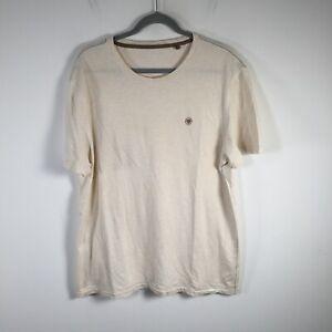 Fat face UK mens beige basic t shirt size XL short sleeve cotton