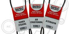 300ZX BELT KIT(Fits: Nissan 1987-1989) Bando A/C/Steering/Alternator 3 PC SET