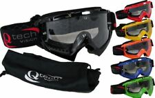 TEAR OFF GOGGLES by Qtech for MOTOCROSS Trials ENDURO Helmet FREE Goggle BAG