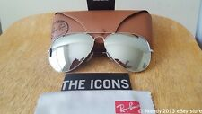 New Ray-Ban RB3025 W3277 58mm Aviator Sunglasses 100% UV Silver Mirror