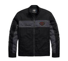 Harley-Davidson Copperblock Canvas Jacke Gr. XL - Schwarz Grau, Herren