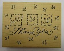 Gracias sello de goma montado de madera