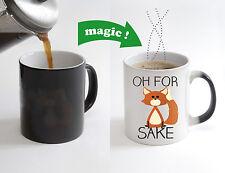 Oh for Fox Sake Magic Color Changing Heat Sensitive Tea Cup Coffee Mug gift