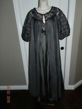Vtg Warners Size 36 black lace Pink Double Layer Night Gown Robe Set Negligee