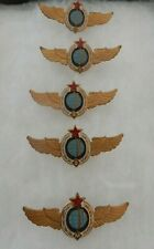 VINTAGE SET 5 USSR SOVIET RUSSIAN CCCP PILOT COSMONAUT SPACE FORCE  BADGES