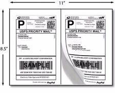 200 Half Sheet Self Adhesive Internet Shipping Labels For Ebay Paypal 85 X 55