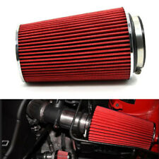 3 inch Car Long Ram Cold Air Intake Filter Cone Air Filter Red Universal Unique