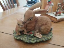 Masterpiece By Homco Collection 1279 Bunny Rabbit Mom And Baby Figurine