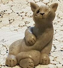 Quarry Critters Stone Cat Figurine Carla  90's Ex Cond