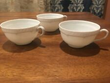 Haviland Limoges Pattern:  All White 3 Tea Cups excellent condition