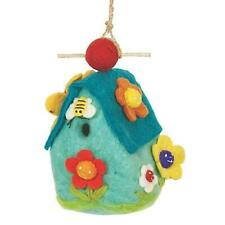 Flower House Birdhouse Global Hand Crafted Hand Felted Wool Wild Woolies
