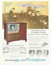 1952 Westinghouse Cabinet Television TV   PRINT AD