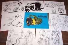 Herculoids Animators' Model Sheets Hanna Barbera Artist Reference Guide