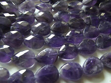 Amethyst. 12x16mm Faceted Tear Drop. Approx. 16 inch Strand.