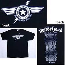 MOTORHEAD! LIGHTNING BOLT 2009 TOUR BLK T-SHIRT S NEW