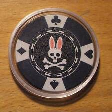 Psycho Bunny Poker Chip Golf Ball Marker - Black