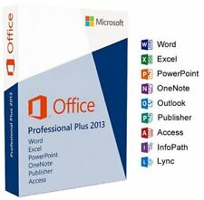 Microsoft Office 2013 Professional Pro Plus 32/64 Bits Clé de licence ferraille PC