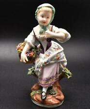 RARE ANTIQUE 19thC DRESDEN PORCELAIN FIGURE - UNUSUAL LIMBACH STYLE MARK