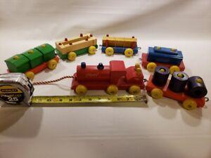 Vintage 1950s De Luxe Playskool Wooden Train - Top Condition & with original box
