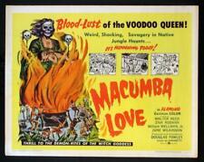 """MACUMBA LOVE""-ORIGINAL 22 X 28 HALF SHEET-POSTER-JUNE WILKINSON-HORROR-ROLLED"