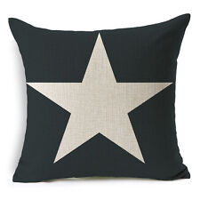 "18""x45cm Dark Blue Star Vintage Pattern HomeDecor Linen Cushion cover Pillowcase"