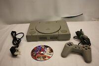 Sony PLAYSTATION 1 SCPH-5502 Pal PS1 Consola & Controlador & Juego