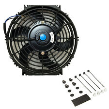 10″ inch Universal Slim Fan Push Pull Electric Radiator Cooling 12V w/ Mount Kit