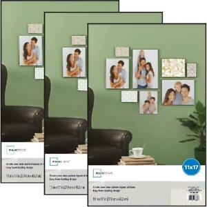 Mainstays 11x17 Format Picture Glass Poster Frame, Set of 3 Home Wall Decor NEW