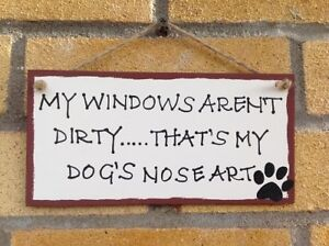 Funny Sign-Handmade-Dogs-Humorous-Quote-Plaque-Wooden-Wall Hanging