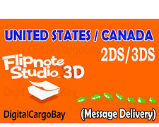 Flipnote Studio 3D for Nintendo 3DS/2DS - USA / CAN Region   Message Delivery