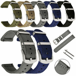 18mm /20/22 24 mm Quick Release Nylon Canvas Metal Buckle Watch Band Wrist Strap