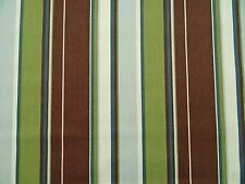 RICHLOOM COVE STRIPE BROWN OUTDOOR UPHOLSTERY FABRIC $6.95/YD BTY 5125