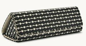 Fossil Sofia Sunglass Case Black White SWL1972005 NWT $20 Retail FS
