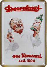 Blechpostkarte Doornkaat  aus Kornsaat Blechschild 10 x 14,5 Schnaps Klarer Korn