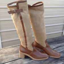 Women's 8.5 Hermes Paris riding style sheepskin boots lightly used