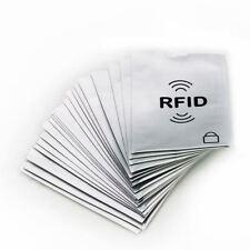 10 Fundas de Seguridad RFID de tarjeta de crédito Protector bloqueo Anti Robo