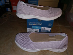 NEW $65 Womens Skechers Go Step Lite Blue Star shoes, size 10 WIDE