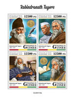 Guinea People Stamps 2020 MNH Rabindranath Tagore Nobel Prize Nehru 4v M/S